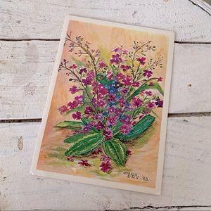 💌 Vintage Blank Flower Card